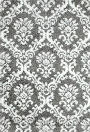 gray white damask trellis area rugs rug 710 x 112