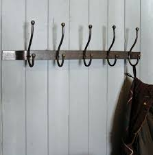 Black Wall Coat Rack Clothing Hooks astonishing hanging coat rack on wall Decorative 74