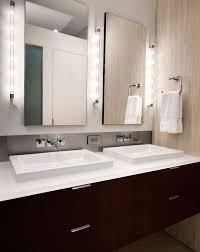 led bathroom vanity lights vanity light bar ikea clean and minimal vanity design lit up in a stunning fashion brown cabinet hand towel mirror lights modern