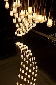 fun funky lighting. lightwave installation by plumen in the design museum tank featuring 96 002 low energy light fun funky lighting y