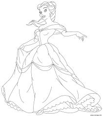 Coloriage Belle Et La Bete Princesse 7 Dessin