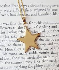 personalised 9ct yellow gold star