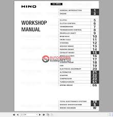 hino fd fe ff sg engine service manual 2002 auto repair dear you that is all in this model and it is also including wiring diagram please check