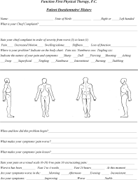 Function First Physical Therapy P C Patient Intake Form