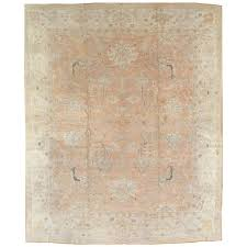 antique oushak carpet turkish rugs handmade oriental rugs pink ivory fine rug for