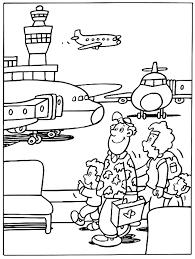 Vliegtuig Kleurplaten Vliegveld