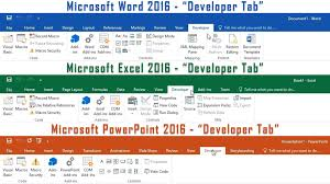microsoft office 2016 how to enable the developer tab in word excel powerpoint you