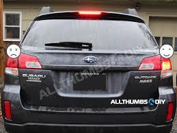 2013 Subaru Legacy Brake Light Bulb How To Replace Brake And Reverse Incandescent Light Bulbs