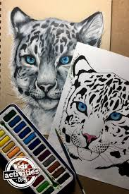 Snow Leopard Coloring Pages For Kids And Adults Kidsactivitiescom