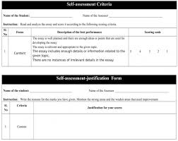 effect of self assessment justifications for students subsequent  appendix 2 self assessment criteria for the learners