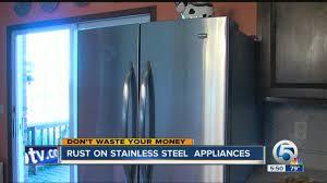 Stainless Steel Refridgerators Rust On Stainless Steel Appliances Youtube