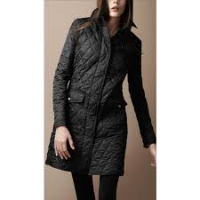 Burberry Mid-Length Diamond Quilted Trench Coat | Style is eternal ... & Burberry Brit Diamond Quilted Trench Coat in Black - Lyst Adamdwight.com