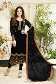 Zareen Khan Inspire Georgette With Embroidery Work Indian Salwar ...