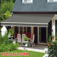garden canopy. 2/2.5/3/3.5/4M Patio Manual Awning Garden Canopy Sun Shade