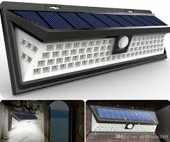 solar lamps 54 led solar motion sensor light outdoor wall lamp waterproof solar powered light with 3 intelligent modes 3 leds both side for