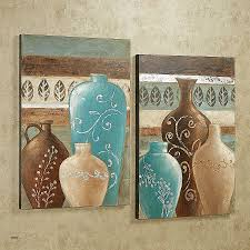blue and brown canvas wall art