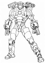 Luxe Coloriage Iron Man 2 Coulere