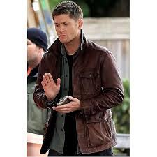 supernatural dean winchester jensen ackles season 7 suede leather jacket celebrity leather jacket