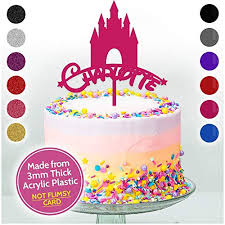 Disney Princess Castle Personalised Birthday Cake Toppers