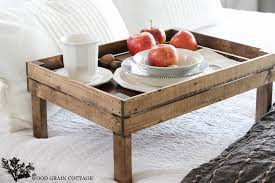 breakfast in bed tray by the wood grain cottage