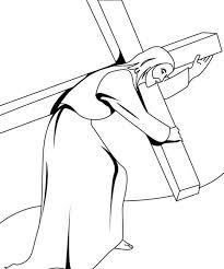 Disegno Della Via Crucis Per Bambini Da Colorare