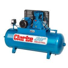 compresor industrial. clarke se18c200nd electric powered industrial air compressor (o/l) 200l 4.0hp 240v~50hz compresor