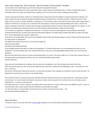 Resume Builder Online Free Download Line Maker Cvmkr Australia