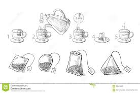 tea bag drawing. Perfect Drawing Tea Bag Brewing Cooking Directions With Bag Drawing L