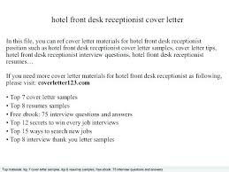 Receptionist Cover Letter Impressive Receptionist Cover Letter Examples Colbroco