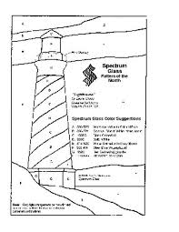 Free Stained Glass Pattern 2034 Lighthouse