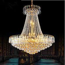 luxury crystal pendant chandelier large hotel lobby chandelier