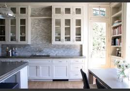 kitchen backsplash white cabinets. Kitchen Backsplash For White Cabinets In Modern And Vintage Look: Wooden  Floor Grey Stony Backsplash. « Kitchen Backsplash White Cabinets L