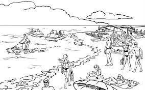 Small Picture Beach Coloring Page Beach pages of KidsColoringPageorg