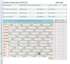 attendance spreadsheet excel weekly attendance sheet template excel