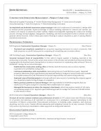 Project Management Resume Keywords Free Construction Laborer Resume