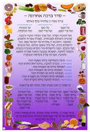 Brachot Chart Al Hamichya Chart
