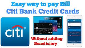 pay citi bank credit card payment