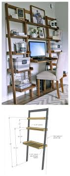 custom computer desk plans made with all boards small space office white build design