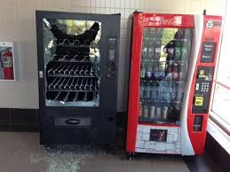 Transit Vending Machines Gorgeous Midnight Munchies Someone Smashed This Vending Machine At The