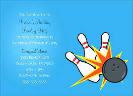 Bowling Party Flyer Template Bettylin Co