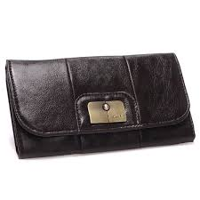Coach Madison Checkbook Large Coffee Wallets CHS