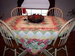 44 best Quilted. Table cloths images on Pinterest | Tray tables ... & Old wooden table with quilt for table cloth Adamdwight.com