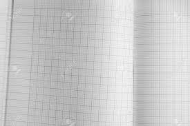 White Paper Book With Grid Texture Background