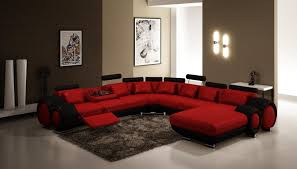 ... Breathtaking Red And Black Sofa Picture Inspirations Home Decor Modern  Reclining Ideas For Living Room Using ...