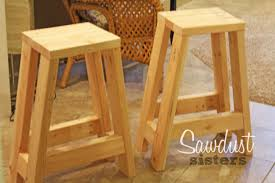 Build A Barstool Using Only 2x4s See The Full Tutorial At  Sawdustsisterscom Build Your Own Bar Stools O40
