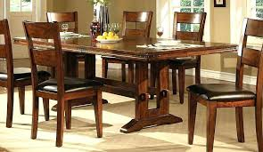 dark wood dining room chairs table amazing set black wooden
