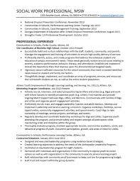 Gallery Of Social Worker Sample Resume