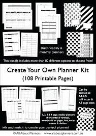 Custom Daily Planner Custom Printable Planner Weekly Daily Monthly Calendar Habit Lists
