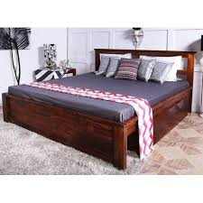 wooden king size bed. Plain Wooden Netriss King Size Bed In Mango Wood Finish In Wooden N