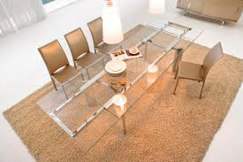 glass dining table base. Furniture. Rectangle Glass Dining Table With Stainless Steel Legs On Brown Fur Rug Added By Base I